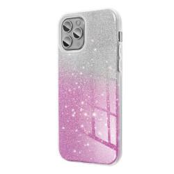 Silikónové puzdro na Samsung Galaxy S20 Ultra Forcell SHINING strieborno ružové