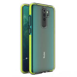 Silikónové puzdro Spring Clear TPU pre Xiaomi Redmi Note 8 Pro žlté