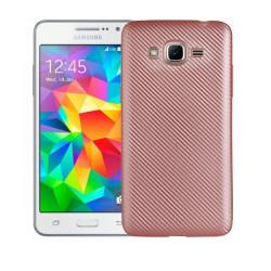 Silikónové puzdro na Samsung Galaxy J3 2016 Carbon TPU ružové