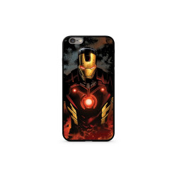 Case with licence IPHO 6 / 6S Iron Man Premium GLASS multicolor (023)