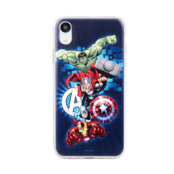 Case with licence SAM Galaxy A20e Avengers navy blue (001)
