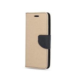 Diárové puzdro Smart Fancy pre Huawei Y7 2019 zlato- čierne