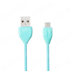 Micro USB kábel REMAX RC-050m Lesu data 1m modrý
