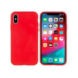 Silikónové puzdro na Apple iPhone 5/5s/se Mercury Silicone červené