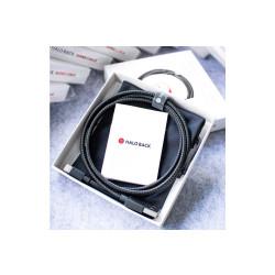 Lightning kábel MFI 2.4A Halo Back Kevlar 1,2 m čierny