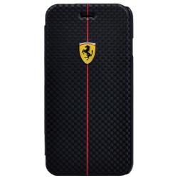 Puzdro FERRARI F1 book Iphone 6 4.7  čierne CARBON