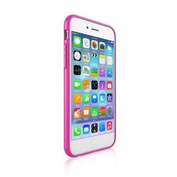 Silikónové puzdro DEVIA Hybrid pre Apple iPhone 6/6s ružové