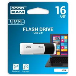 USB kľúč 16 GB GOODRAM Pendrive USB 2.0 čierno-biely
