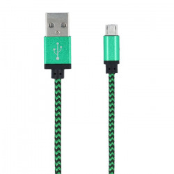 Braided micro usb kábel zelený