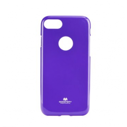 Silikónové puzdro Mercury Jelly pre Apple iPhone 7 fialové