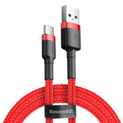 Kábel USB typ-C Baseus Cafule 0,5 m červený