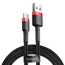 Kábel USB typ-C Baseus Cafule 0,5 m červeno čierny