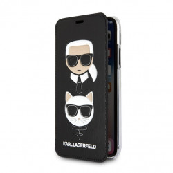 KLFLBKI65KICKC Karl Lagerfeld Karl and Choupette Book Pouzdro Black pro iPhone XS Max