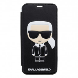 KLFLBKPXIKPUBK Karl Lagerfeld Ikonik Book Case Black pro iPhone X