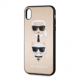 KLHCI61KICKCSGO Karl Lagerfeld Karl and Choupette Hard Case Gold pro iPhone XR