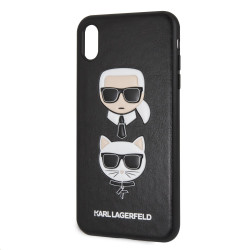 KLHCI65IKICKC Karl Lagerfeld Karl and Choupette Hard Case Black pro iPhone XS Max