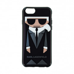 KLHCP6KKORO Karl Lagerfeld Karl and Choupette TPU Case Black pro iPhone 6/6S