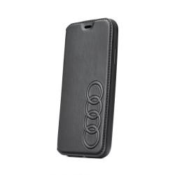 Kožené diárové puzdro Audi Folio pre Apple iPhone Xs Max čierne