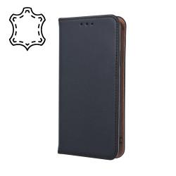 Kožené diárové puzdro Genuine Smart Pro pre Apple iPhone XS Max čierne