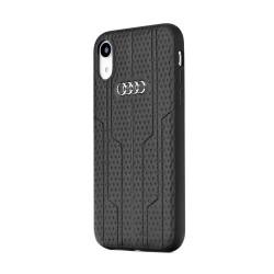 Kožené puzdro Audi A6 pre Apple iPhone Xs Max čierne