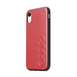 Kožené puzdro Audi pre Apple iPhone 8 Plus červené