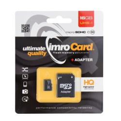Pamäťová karta microSD 16 GB  IMRO Class 10 + adaptér