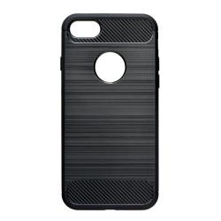 Pevné silikónové puzdro Forcell Carbon pre Samsung Galaxy A7 2018 čierne