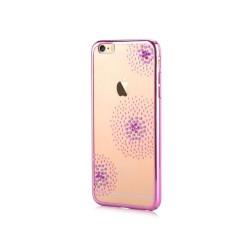 Silikónové puzdro Beeyo Flower Dots pre Apple iPhone 7/8 ružové