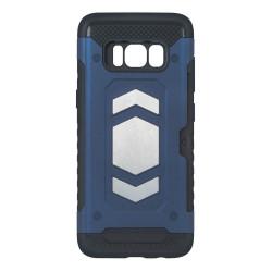 Plastové puzdro Defender Magnetic pre Huawei P Smart tmavomodré