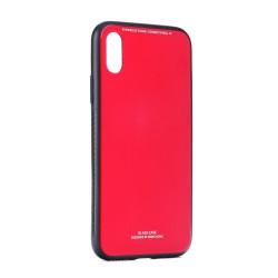 Plastové puzdro Glass Case pre Samsung Galaxy J4 Plus červené