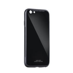 Plastové puzdro Glass case pre Samsung Galaxy J4 Plus čierne