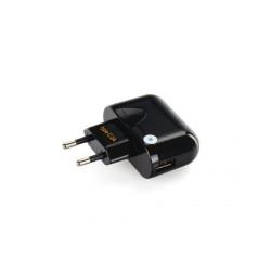 Sieťová nabíjačka Blue Star USB 2A s mirco USB káblom na typ-C čierna