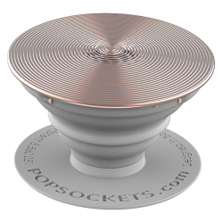 PopSockets Original PopGrip, Twist Rose Gold Aluminum, hliníkový