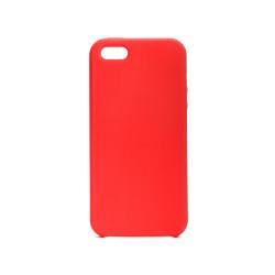 Silikónové puzdro na Apple iPhone 5/5s/SE Forcell Silicone červené