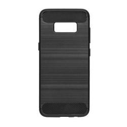 Pevné silikónové puzdro Forcell Carbon pre Samsung Galaxy S8 čierne
