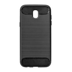 Pevné silikónové puzdro Forcell Carbon pre Samsung Galaxy J3 2017 čierne