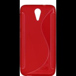 Silikónové puzdro S-dizajn pre Apple iPhone 6/6S červené