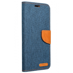 Diárové puzdro na Apple iPhone 6/6s Canvas modré