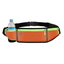 Puzdro na behanie Reflexné (kapsa, držiak na fľašu) - oranžové