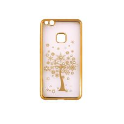 Silikónové puzdro Beeyo Diamond Tree pre Apple iPhone X zlaté