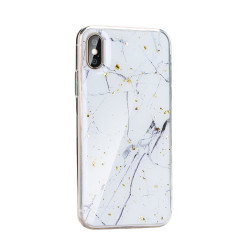 Silikónové puzdro Forcell Marble 1 pre Apple iPhone 6/6S biele