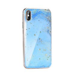 Silikónové puzdro Forcell Marble 3  pre Huawei Y7 2019 modré