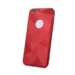 Silikónové puzdro Geometric Shine pre Apple iPhone 6/6s červené