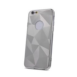 Silikónové puzdro Geometric Shine pre Huawei Y6 2019 strieborné
