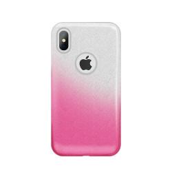 Silikónové puzdro Gradient Glitter 3v1 pre Huawei P30 Pro ružové