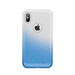 Silikónové puzdro Glitter 3v1 pre Huawei Y6 2018 modré