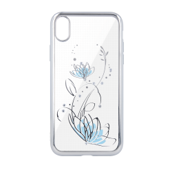Silikónové puzdro Lotus pre Apple iPhone 6/ 6s strieborné