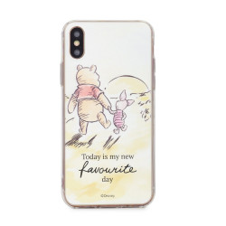 Silikónové puzdro Winnie the Pooh and Friends pre Apple iPhone XS (012)