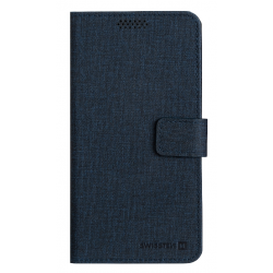 Diárové puzdro Swissten Libro Uni Book, veľkosť XL, tmavo-modré