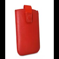 Puzdro vsuvka uni pravá koža, SK výroba veľkosť 33 tmavo-červené